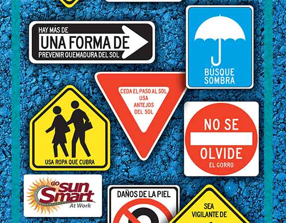 The Road Map to Sun Safety Poster - Spanish