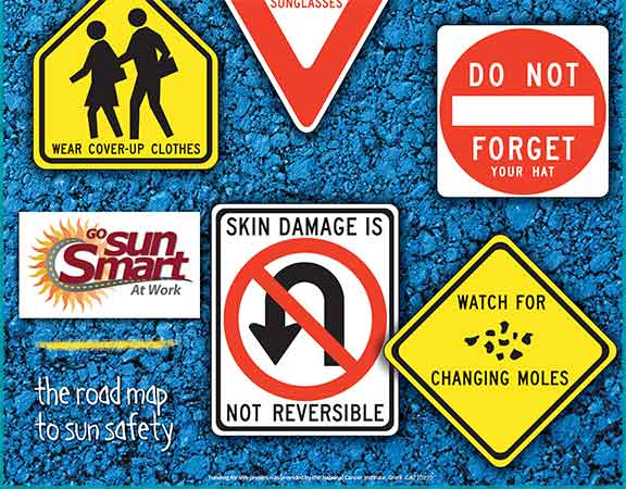 The Road Map to Sun Safety Poster